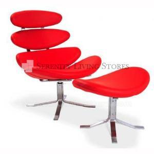 Corona chair ottoman modern furniture stores serenity living - Corona chair replica ...