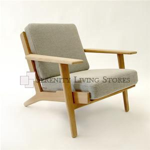 Hans Wegner Style Plank Chair Reproduction
