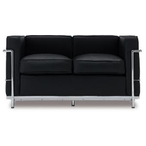 Le Corbusier LC2 Style Loveseat Reproduction