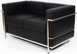 Le Corbusier LC2 Style Loveseat Reproduction 3