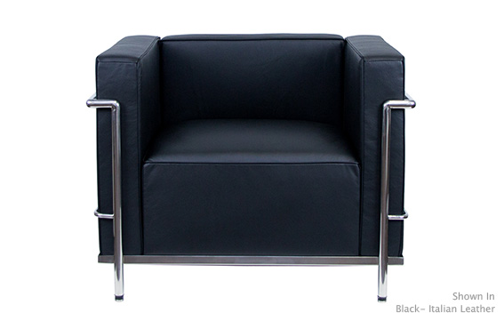 Le Corbusier LC3 Style Armchair Reproduction