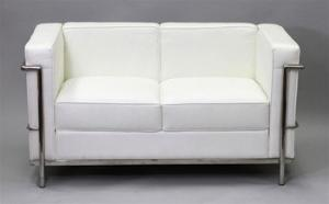 Le Corbusier LC2 Style Loveseat Reproduction 2