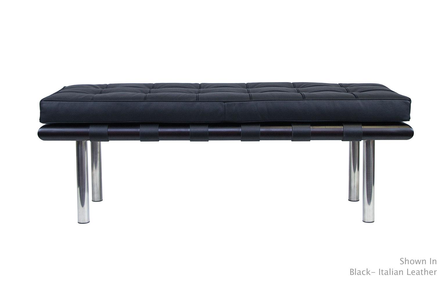 Barcelona Bench Modern Furniture Van Der Rohe Serenity Living