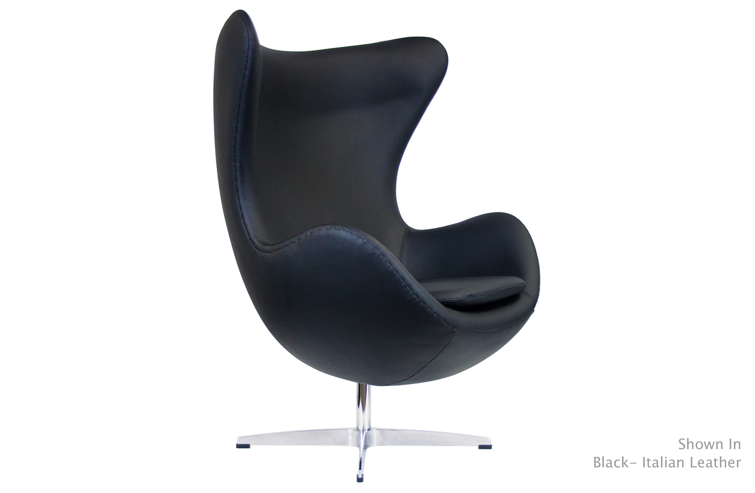 Egg Chair Designer Egg Chair Reproduction : eggchairinblackleather from www.serenitylivingstores.com size 1532 x 1000 jpeg 129kB