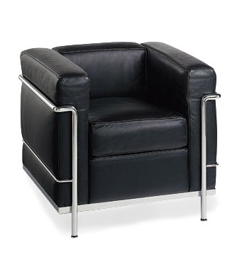 Le corbusier chair lc2 modern chairs serenity living for Le corbusier lc2