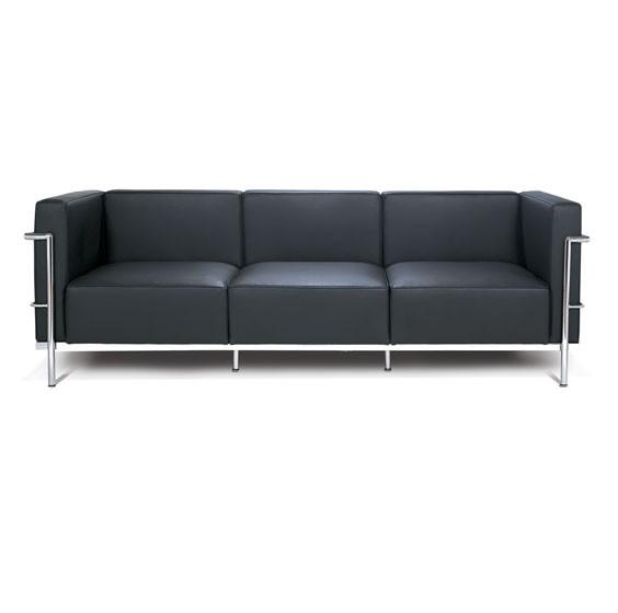 le corbusier grand sofa lc3 le corbusier serenity living. Black Bedroom Furniture Sets. Home Design Ideas