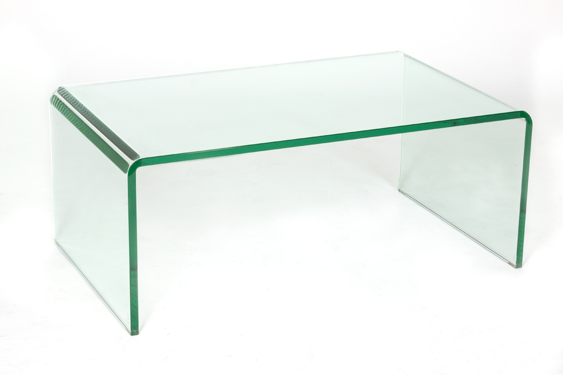 Glass Tables Glass Waterfall Coffee Table